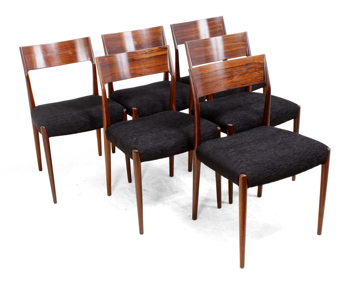 mid century palisander esszimmerst hle 1960er 6er set bei pamono kaufen. Black Bedroom Furniture Sets. Home Design Ideas