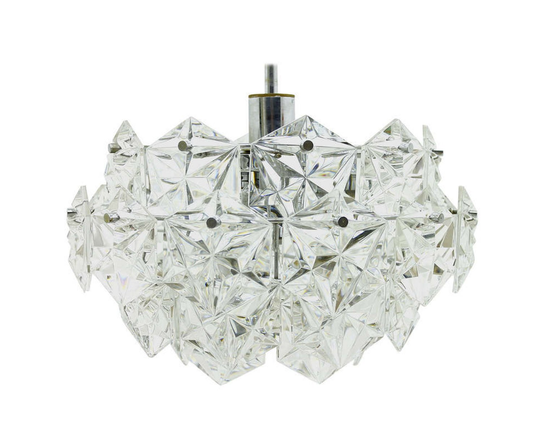 German crystal glass chandelier by kinkeldey 1960s for sale at pamono german crystal glass chandelier by kinkeldey 1960s aloadofball Choice Image