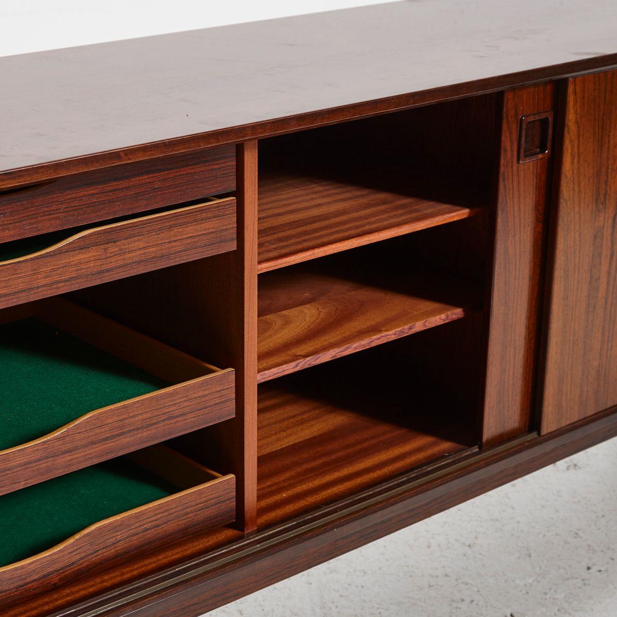 model 21 rosewood sideboard by omann jun 1960s for sale. Black Bedroom Furniture Sets. Home Design Ideas