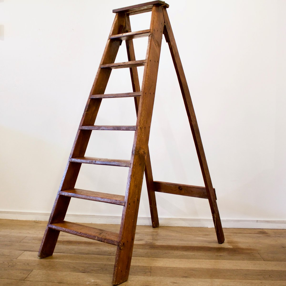 French Wooden Ladder 1930s for sale at Pamono