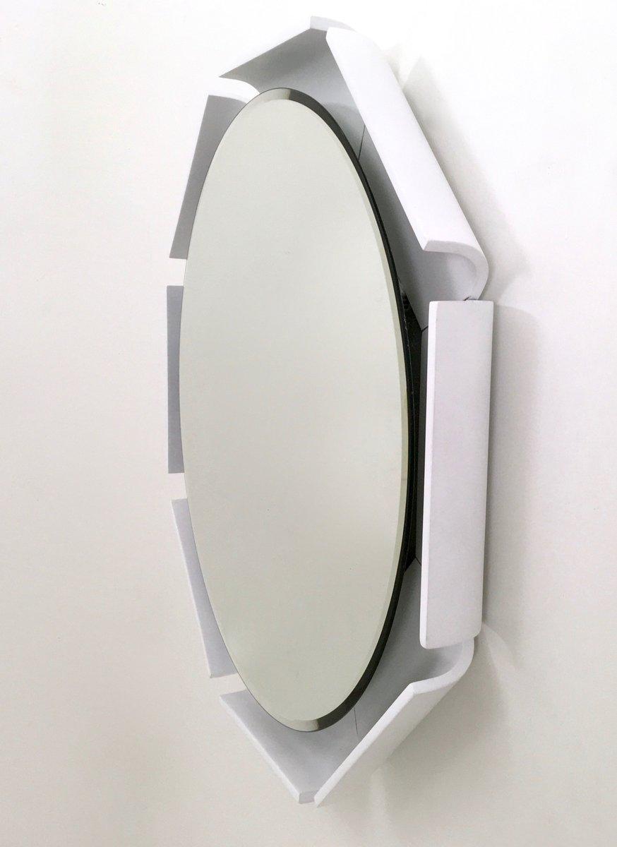 Wei lackierter spiegel mit holzrahmen 1970er bei pamono kaufen - Alter spiegel mit holzrahmen ...