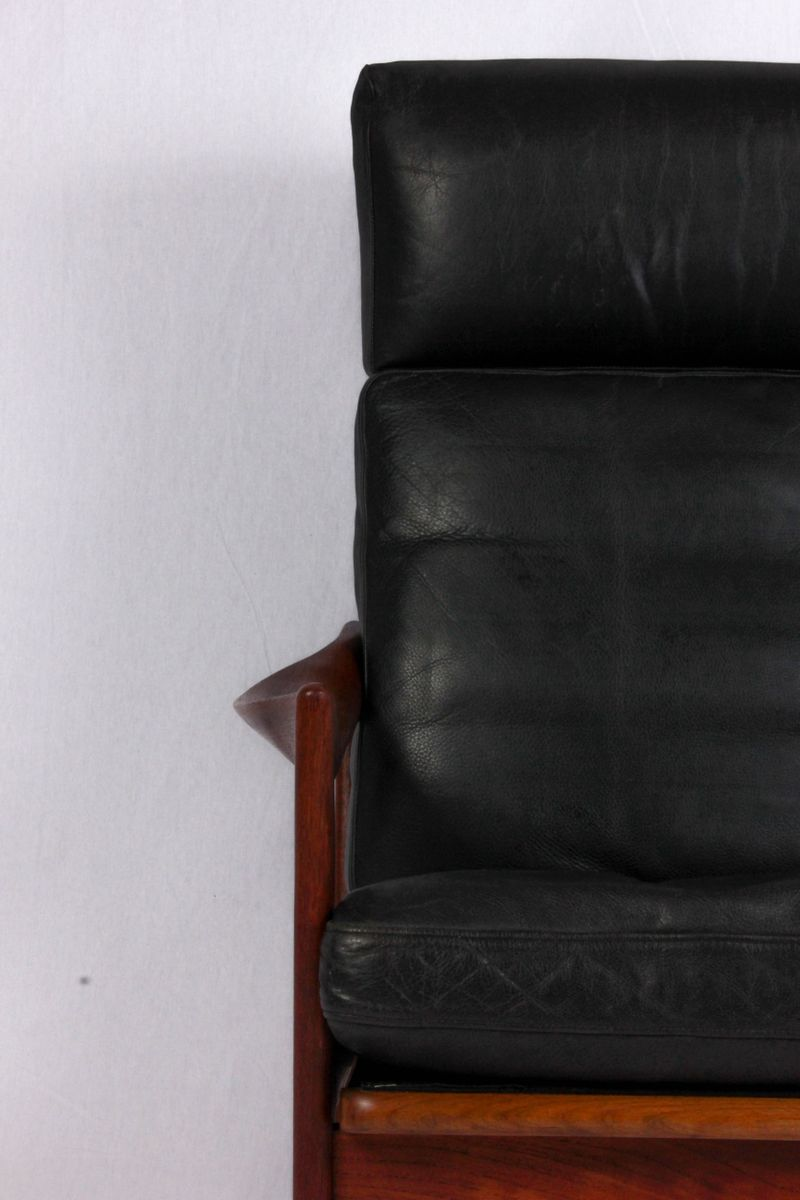 sessel mit hoher r ckenlehne von illum wikkels f r niels eilersen 1960er bei pamono kaufen. Black Bedroom Furniture Sets. Home Design Ideas