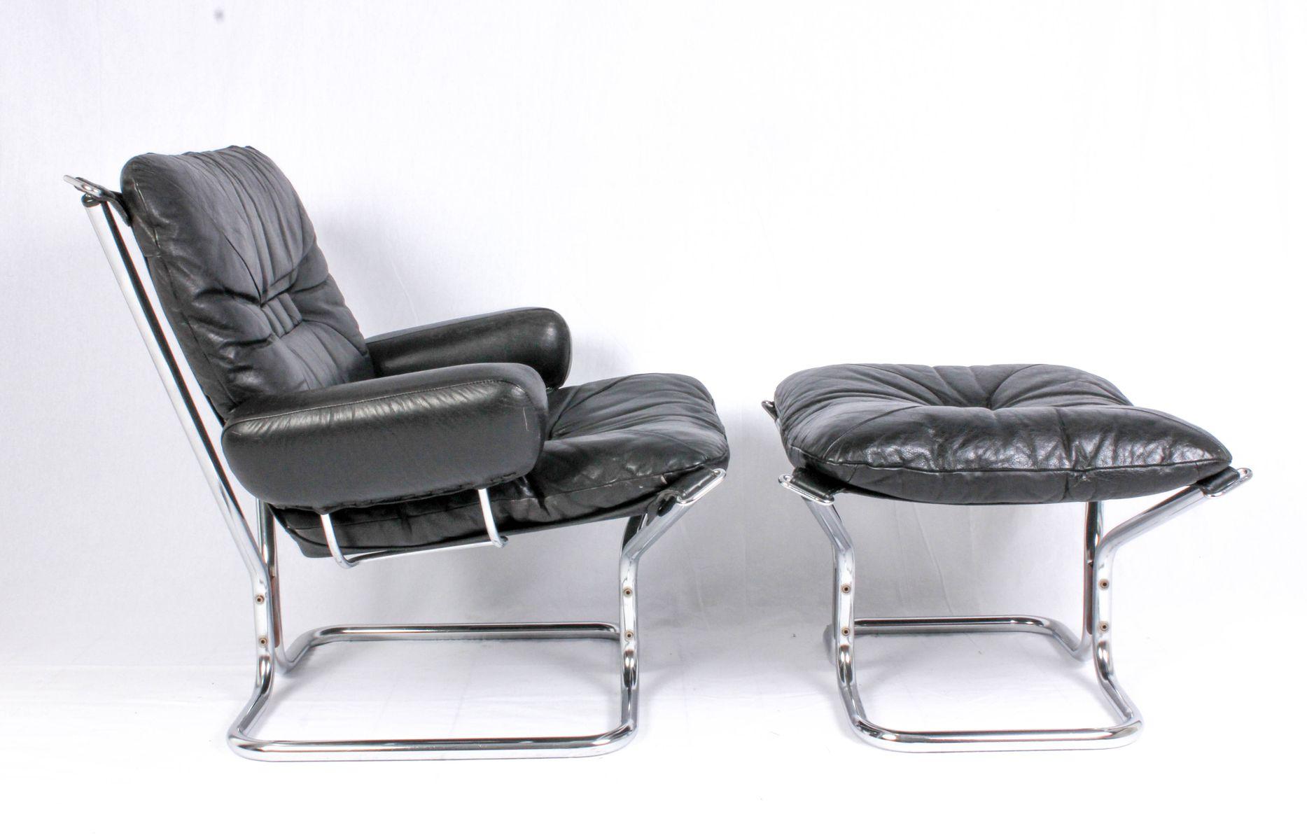 mid century sessel ottoman von ingmar relling 1950er. Black Bedroom Furniture Sets. Home Design Ideas