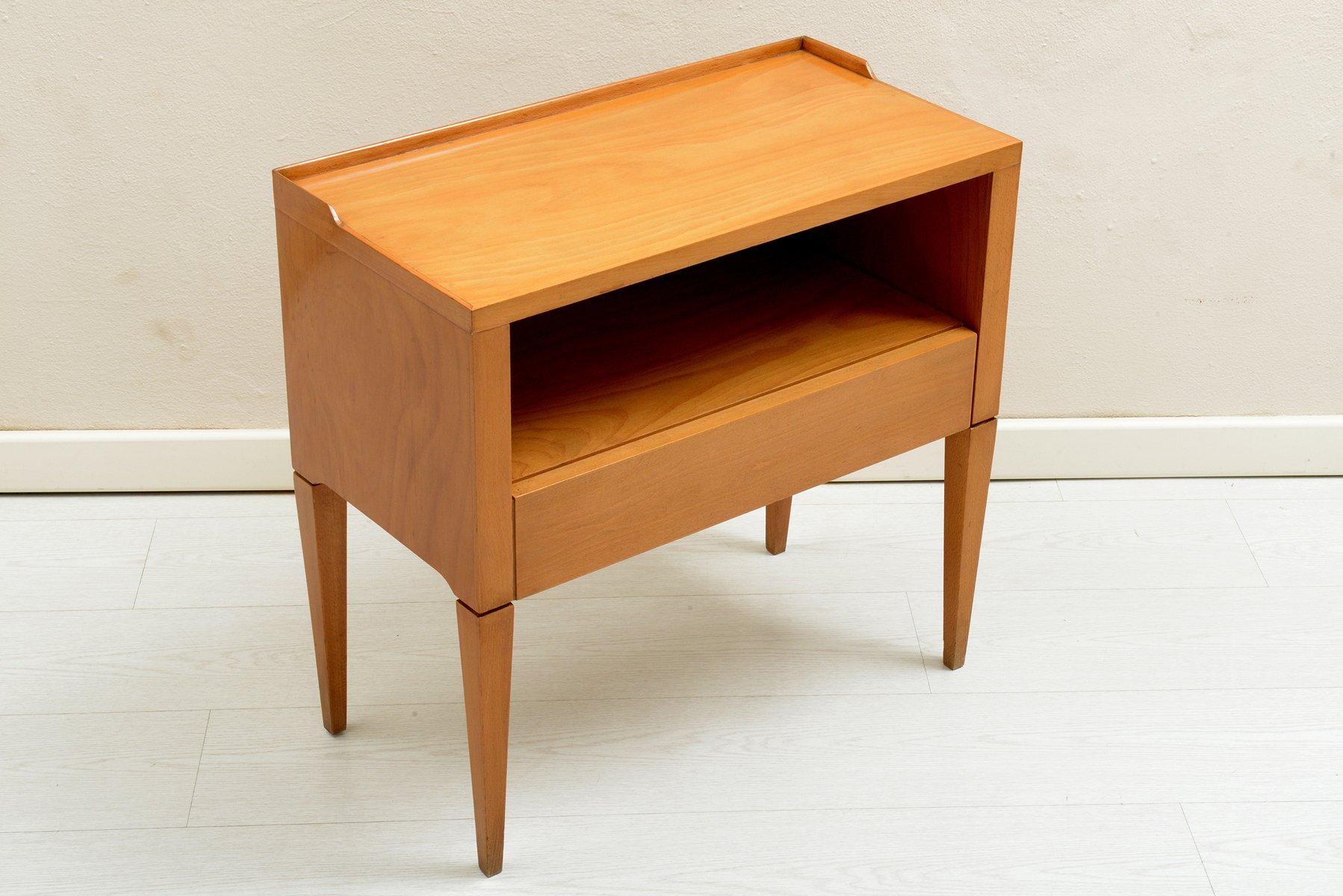 italienischer nachttisch 1950er 2er set bei pamono kaufen. Black Bedroom Furniture Sets. Home Design Ideas