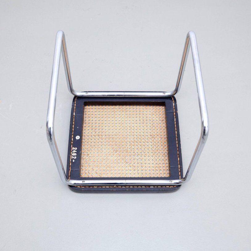 vintage hocker von marcel breuer f r thonet 2er set bei pamono kaufen. Black Bedroom Furniture Sets. Home Design Ideas