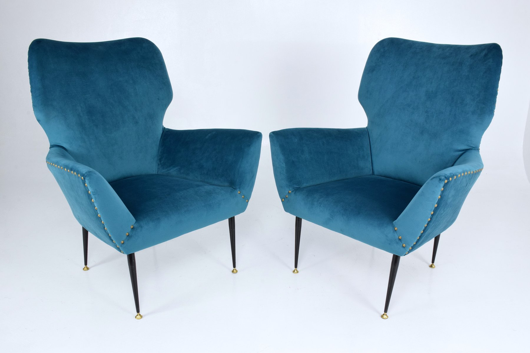 geschwungene italienische sessel 1950er 2er set bei pamono kaufen. Black Bedroom Furniture Sets. Home Design Ideas