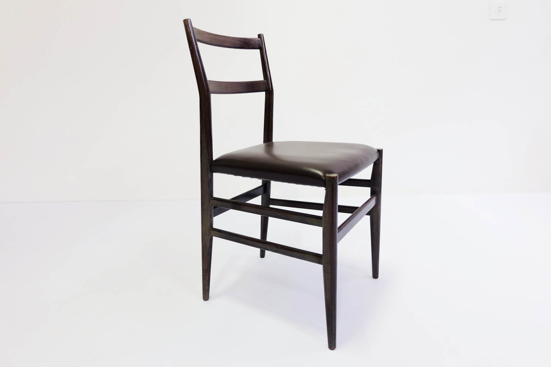 leggera side chair by gio ponti for cassina 1951 for sale at pamono. Black Bedroom Furniture Sets. Home Design Ideas