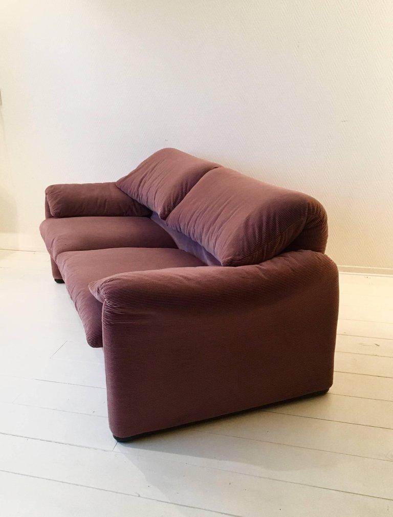maralunga zwei sitzer sofa von vico magistretti f r cassina 1970er bei pamono kaufen. Black Bedroom Furniture Sets. Home Design Ideas