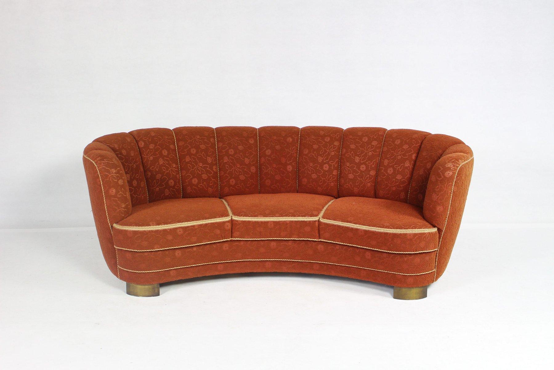 gebogenes vintage banana sofa bei pamono kaufen. Black Bedroom Furniture Sets. Home Design Ideas
