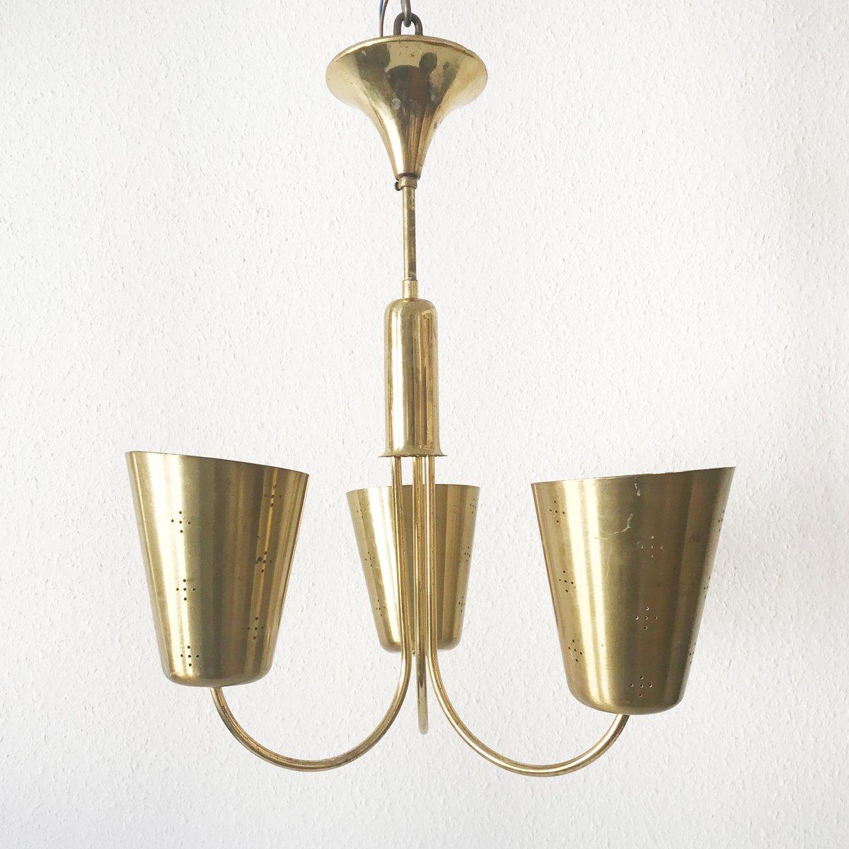 Mid century brass chandelier en venta en pamono mid century brass chandelier aloadofball Images