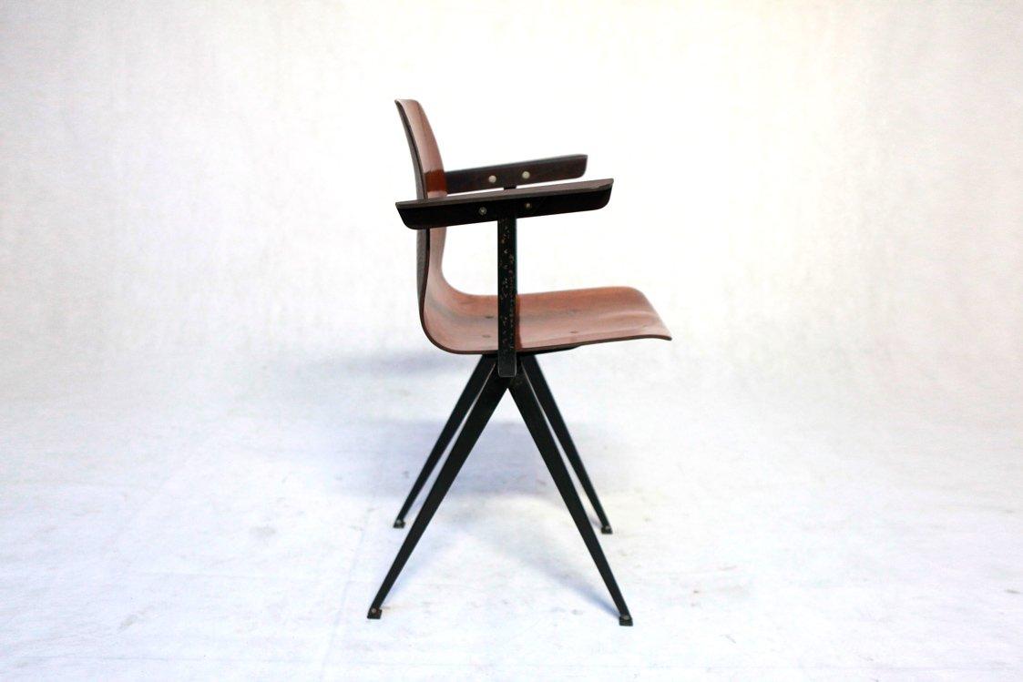 chaise mod le s19 avec accoudoirs de galvanitas 1960s en. Black Bedroom Furniture Sets. Home Design Ideas