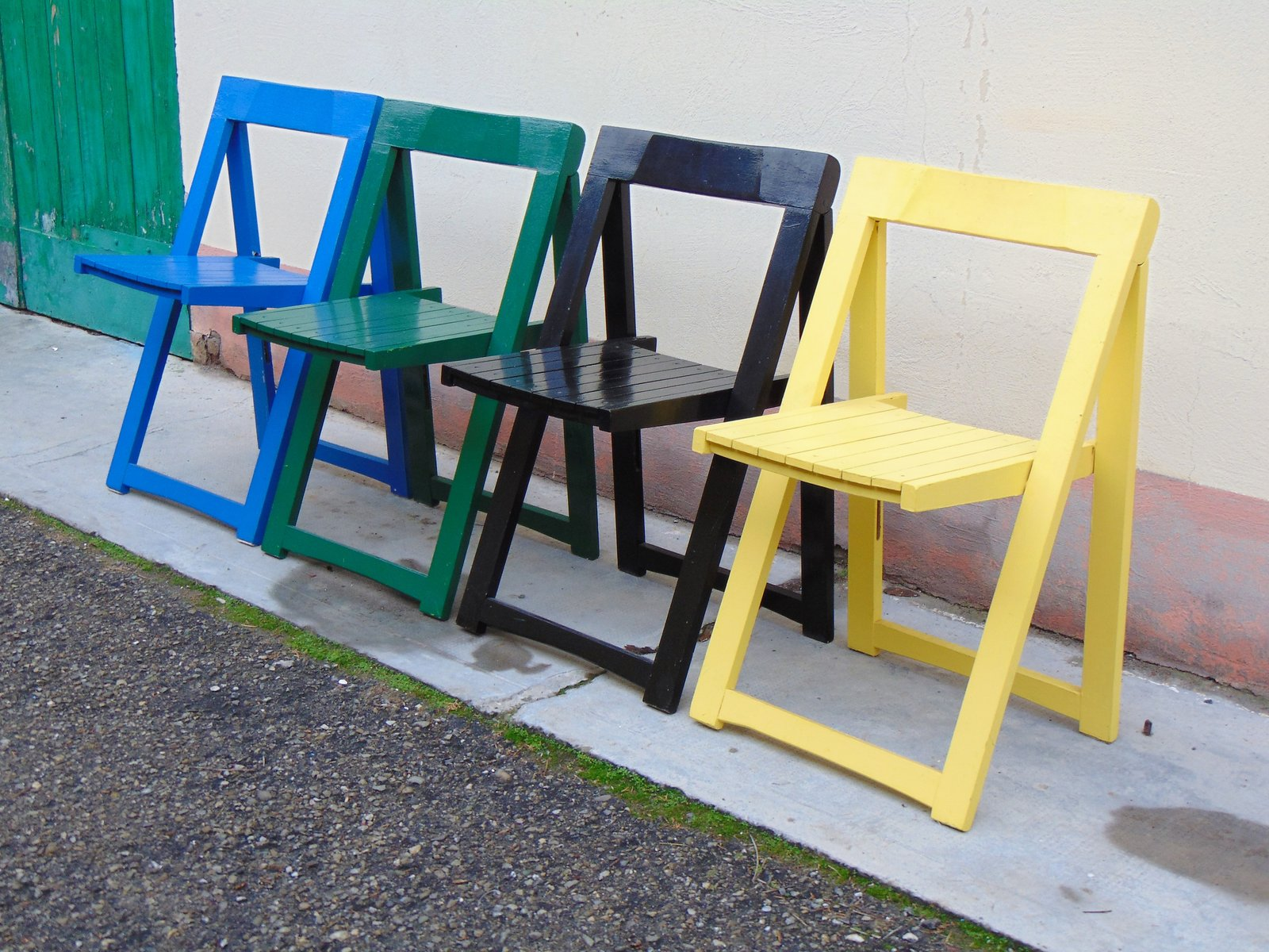 Vintage Folding Chairs by Aldo Jacober for Alberto Bazzani Set of