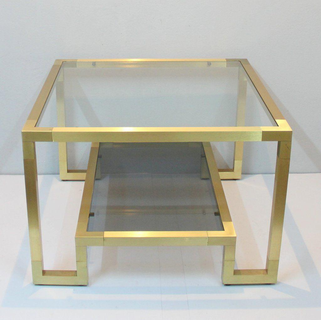 messing couchtisch 1970er bei pamono kaufen. Black Bedroom Furniture Sets. Home Design Ideas