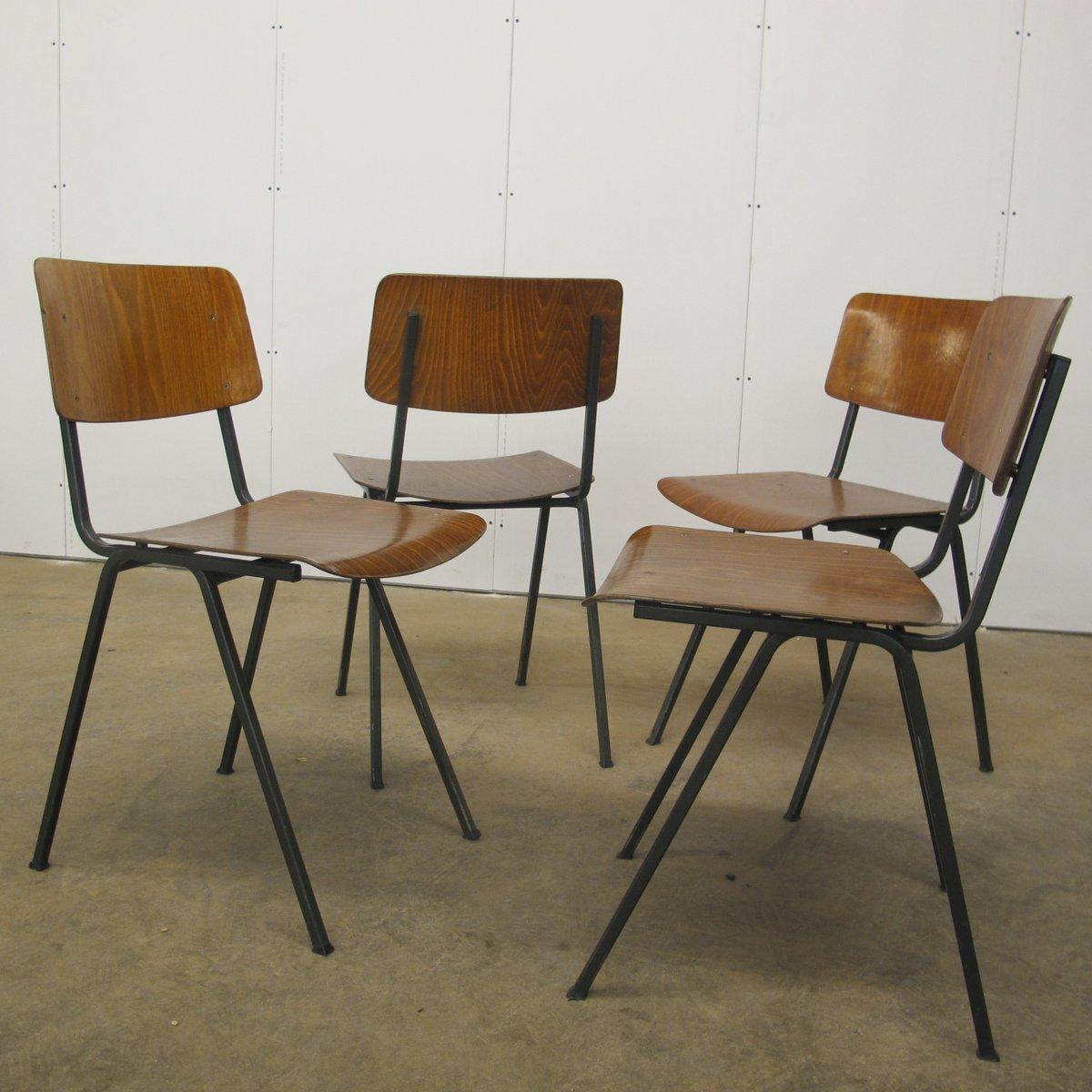 Vintage Stühle vintage stühle aus schichtholz stahl marko 1960er 4er set