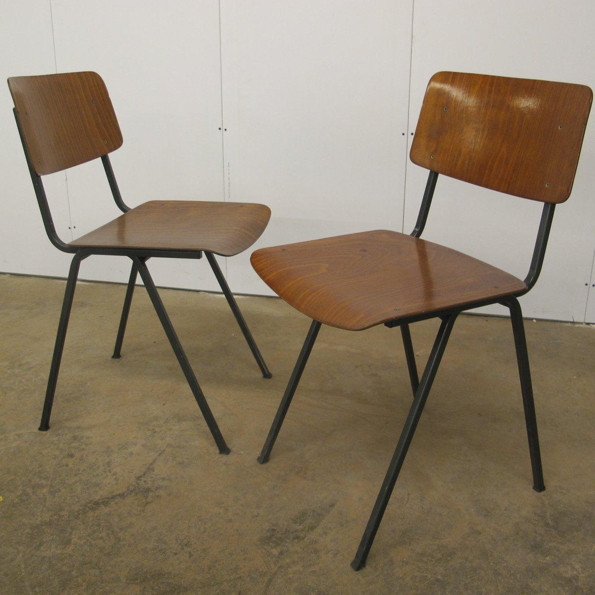 vintage st hle aus schichtholz stahl von marko 1960er. Black Bedroom Furniture Sets. Home Design Ideas