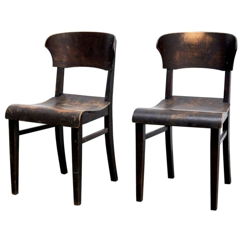 Antique Side Chairs, Set of 2 - Antique Side Chairs, Set Of 2 For Sale At Pamono