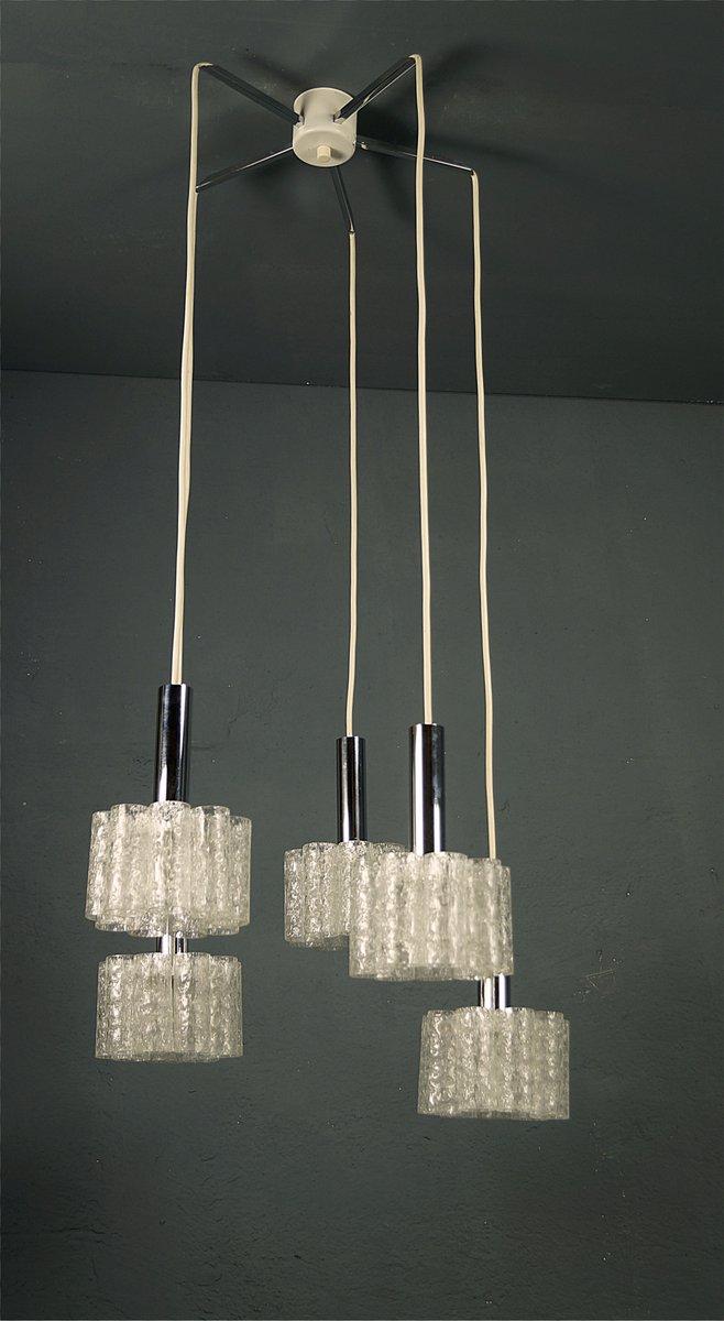 5 light cascading pendant lamp with tubular ice glass from doria 5 light cascading pendant lamp with tubular ice glass from doria 1960s mozeypictures Gallery