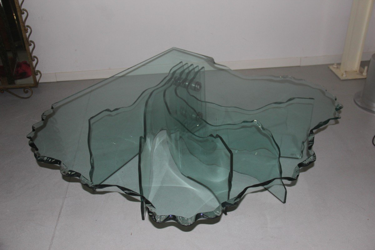 Shell Coffee Table By Danny Lane For Fiam, 1980s For Sale At Pamono