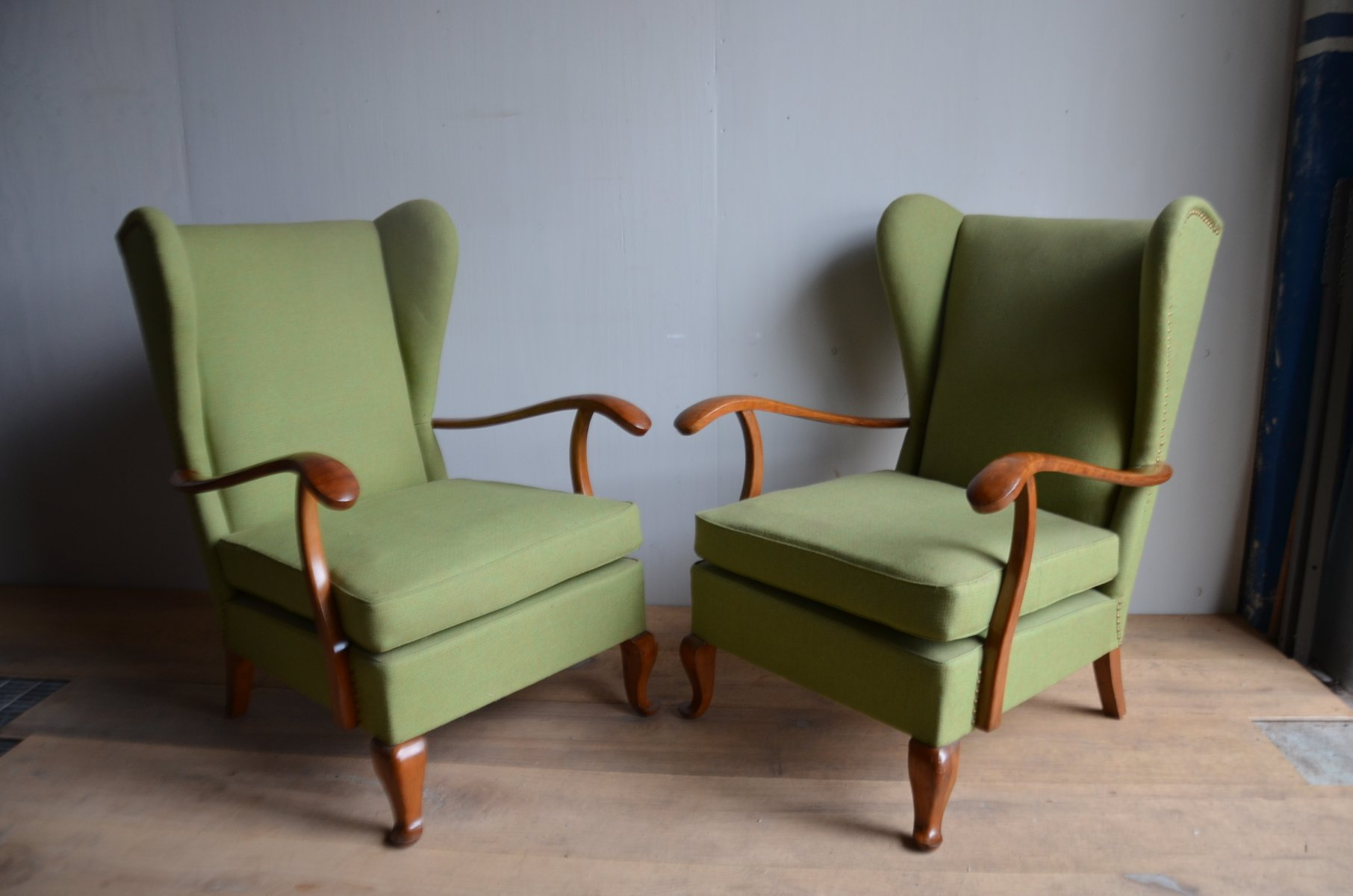 italienische mid century sessel von paolo buffa 1964 2er. Black Bedroom Furniture Sets. Home Design Ideas