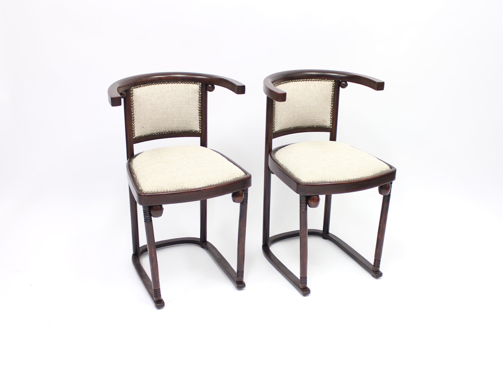 fledermaus kabarett st hle von josef hoffmann f r thonet 2er set bei pamono kaufen. Black Bedroom Furniture Sets. Home Design Ideas