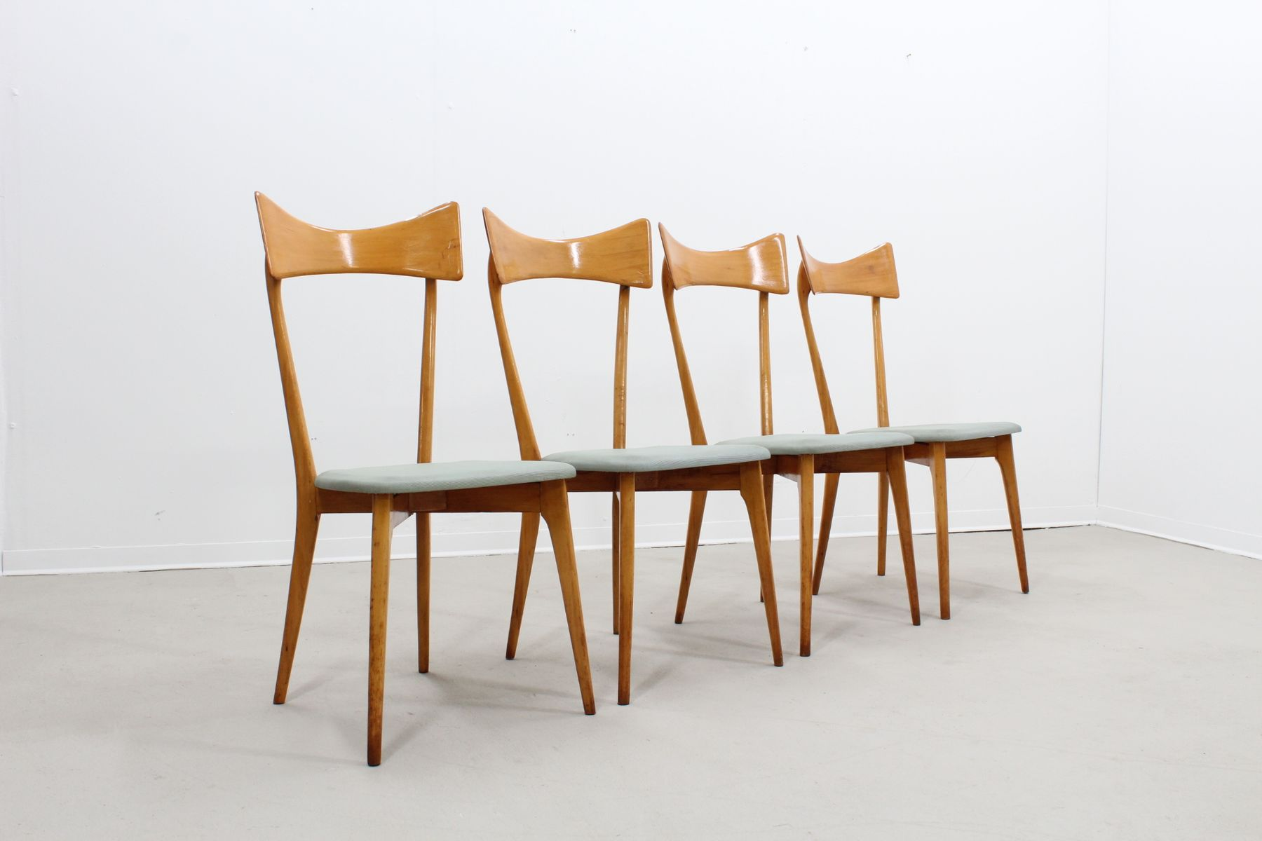 Mid Century Dining Chairs By Ico Parisi, Set Of 4