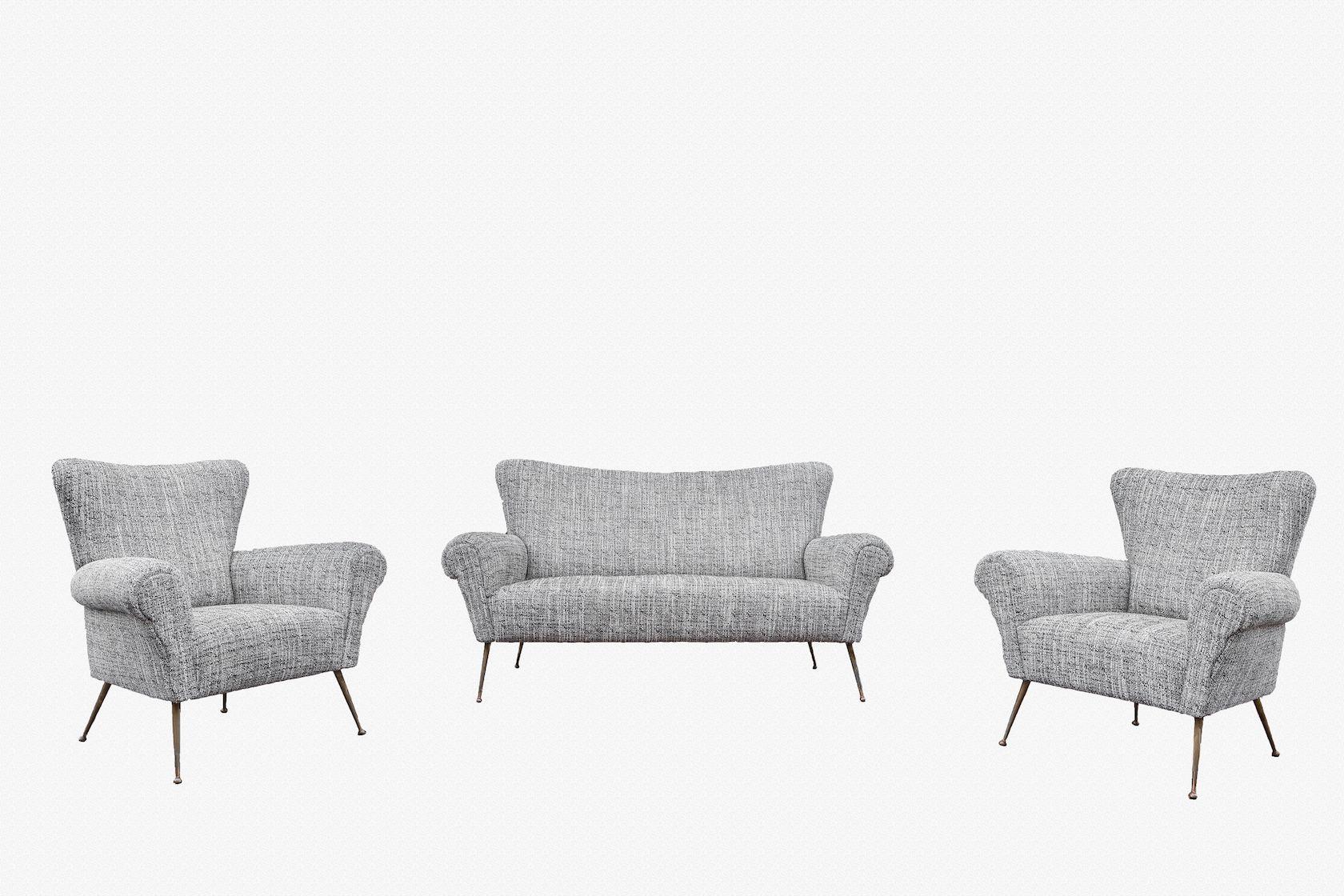 italienisches wohnzimmer set 1950 bei pamono kaufen. Black Bedroom Furniture Sets. Home Design Ideas