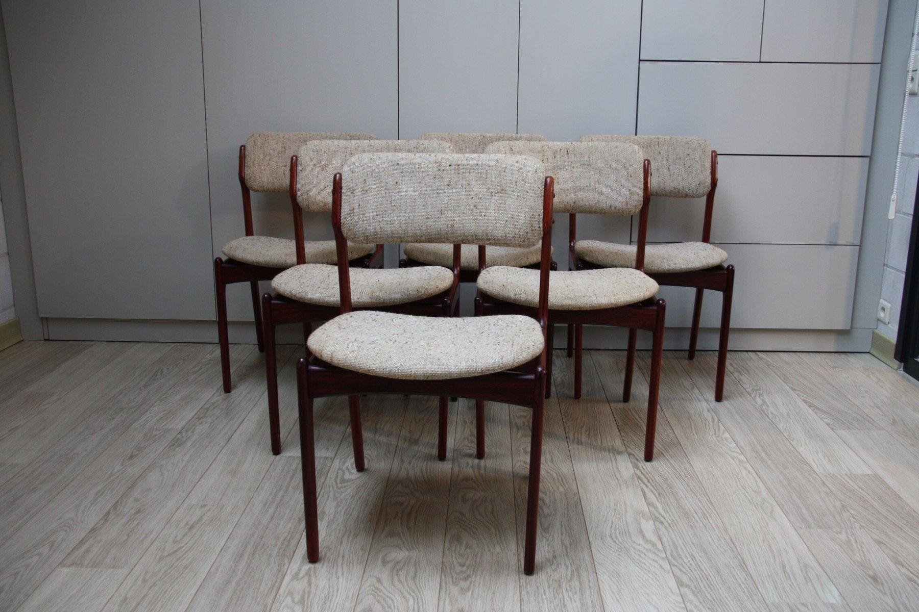modell 49 palisander esszimmerstuehle von erik buch fuer o d mobler 1960er 6er set 1 Top Ergebnis