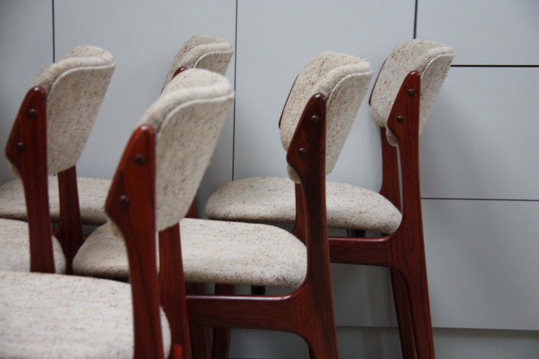 Model 49 Dining Chairs in Rosewood by Erik Buch for O D M¸bler