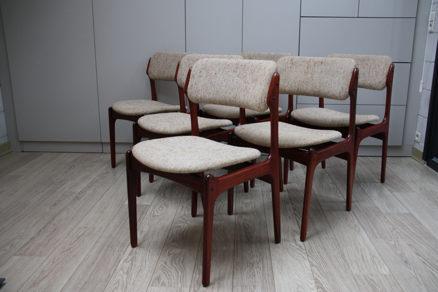 modell 49 palisander esszimmerstuehle von erik buch fuer o d mobler 1960er 6er set 3 Top Ergebnis