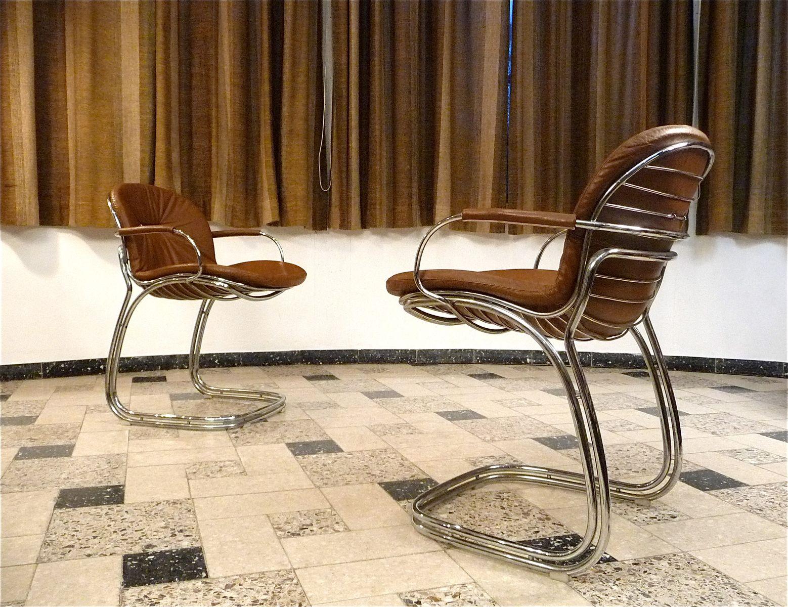 sabrina leder esszimmer st hle von gastone rinaldi f r. Black Bedroom Furniture Sets. Home Design Ideas