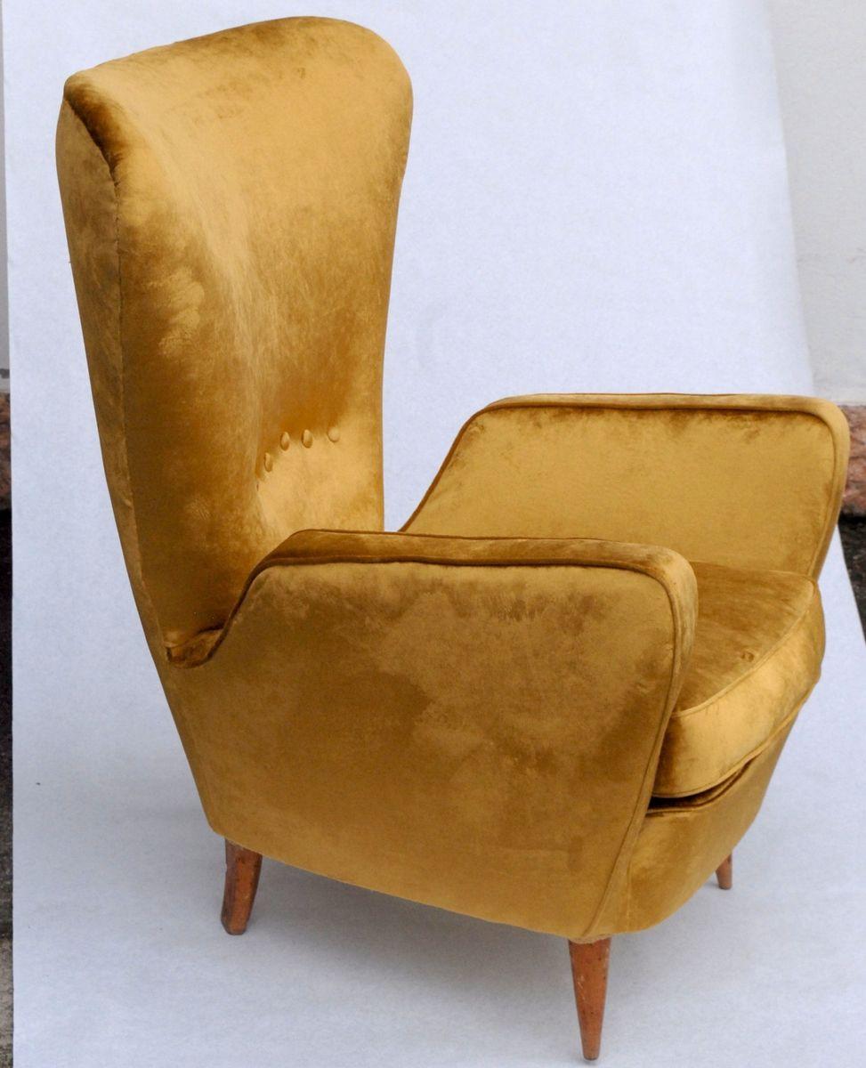 armchair by emilia sala and giorgio madini 1950s for sale. Black Bedroom Furniture Sets. Home Design Ideas