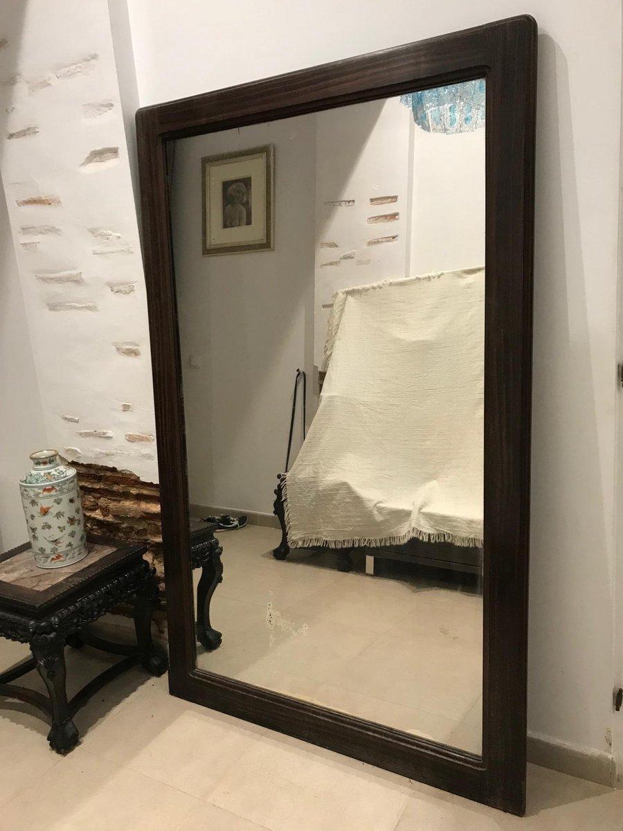 art deco spiegel mit rahmen aus ebenholz von louis majorelle bei pamono kaufen. Black Bedroom Furniture Sets. Home Design Ideas
