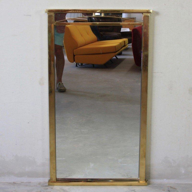messing spiegel 1970er bei pamono kaufen. Black Bedroom Furniture Sets. Home Design Ideas