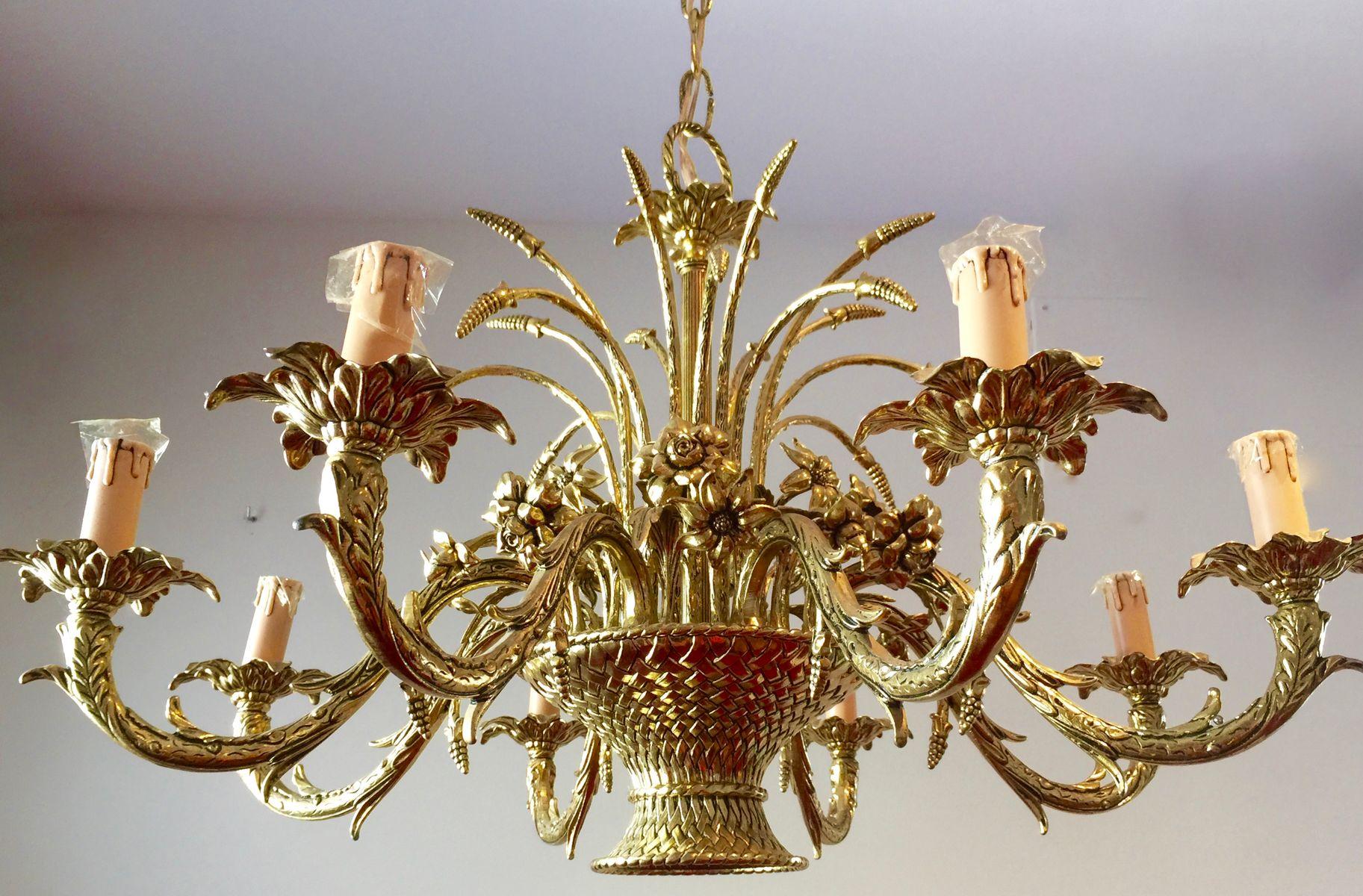 franzsische vergoldeter bronze kronleuchter 1960er - Bronze Kronleuchter