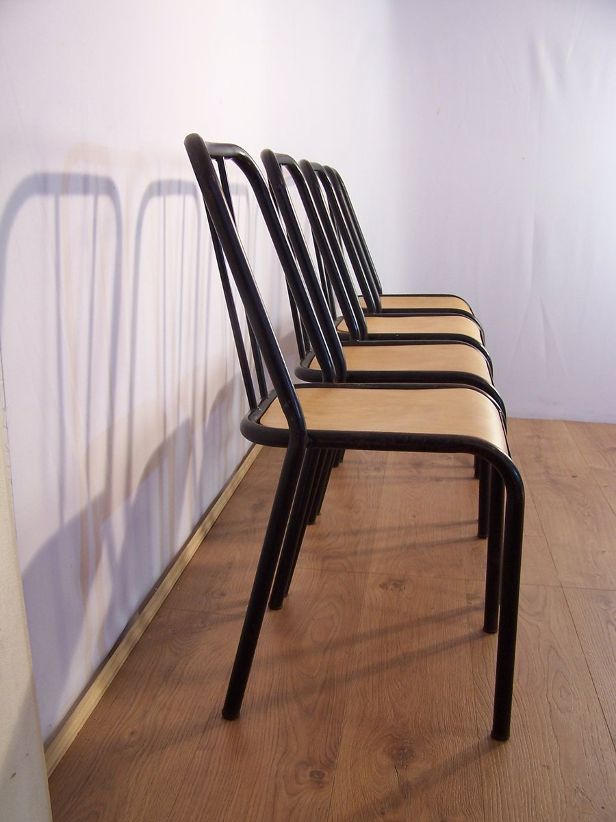 vintage st hle von tubauto 4er set bei pamono kaufen. Black Bedroom Furniture Sets. Home Design Ideas