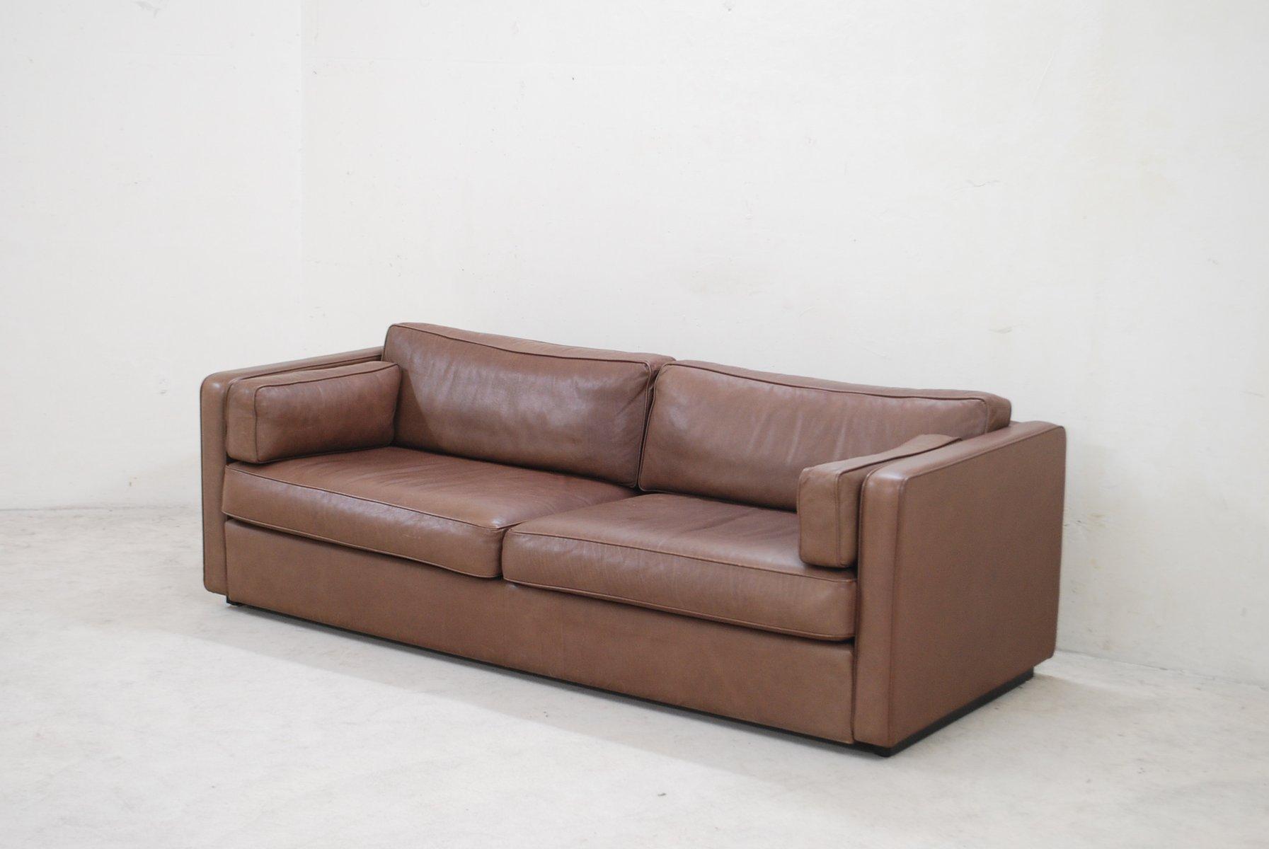 vintage ej 430 3 sofa aus braunem leder von erik joergensen bei pamono kaufen. Black Bedroom Furniture Sets. Home Design Ideas