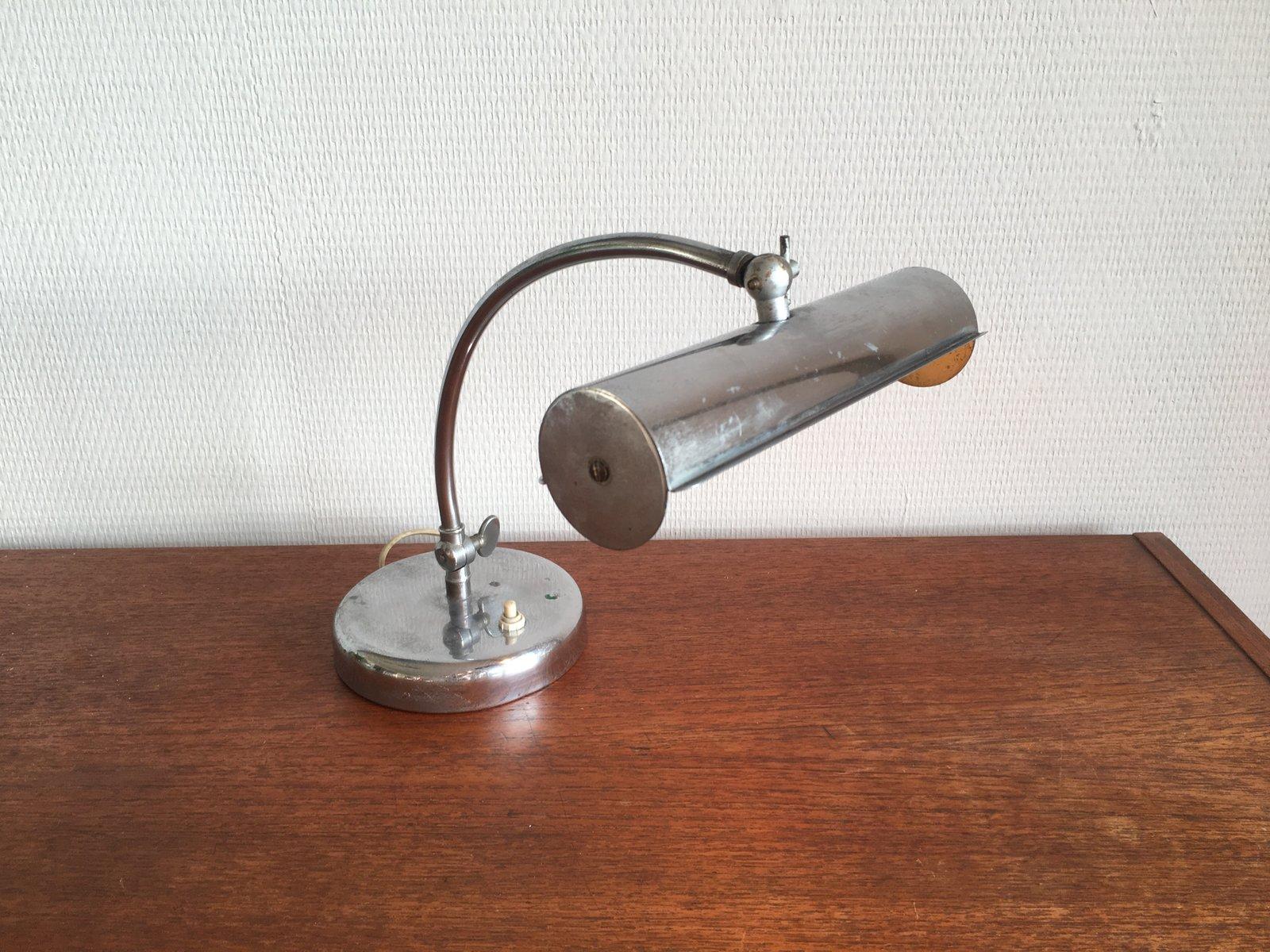 vintage chrom schreibtisch lampe bei pamono kaufen. Black Bedroom Furniture Sets. Home Design Ideas