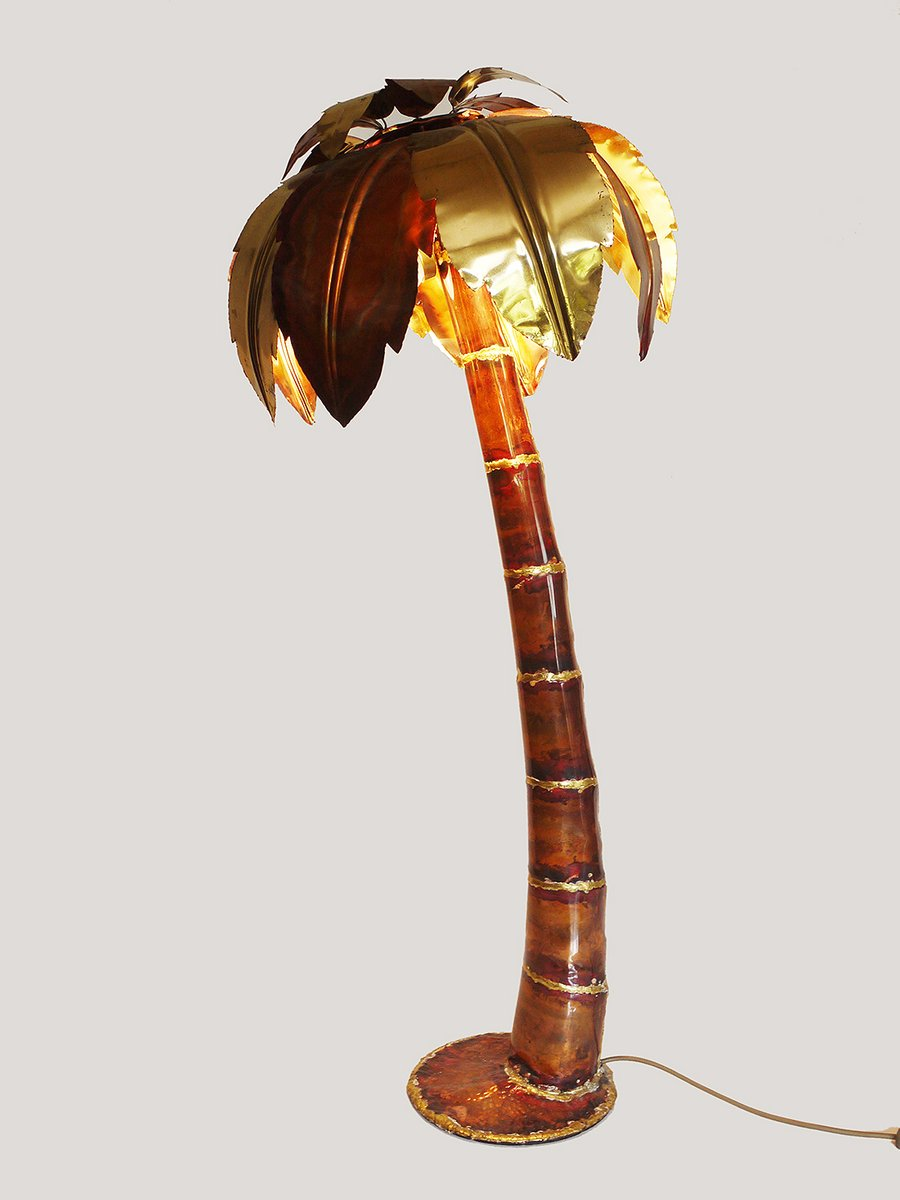 Hollywood Regency Style Palm Tree Floor Lamp 1970s For