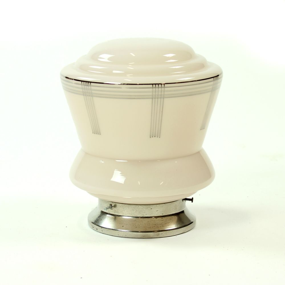tschechoslowakische art deco deckenlampe aus rosa glas 1920er bei pamono kaufen. Black Bedroom Furniture Sets. Home Design Ideas