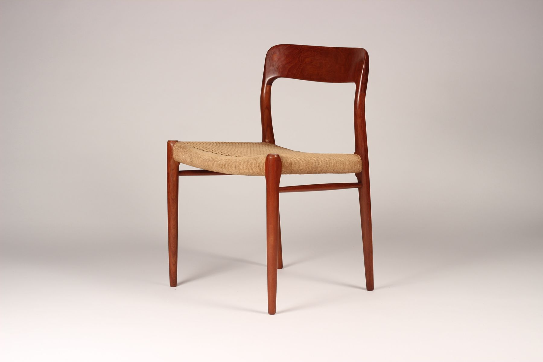 Model 75 Mid Century Dining Chairs By Niels Otto Møller For J.L. Møllers  Møbelfabrik, 1960s, Set Of 6