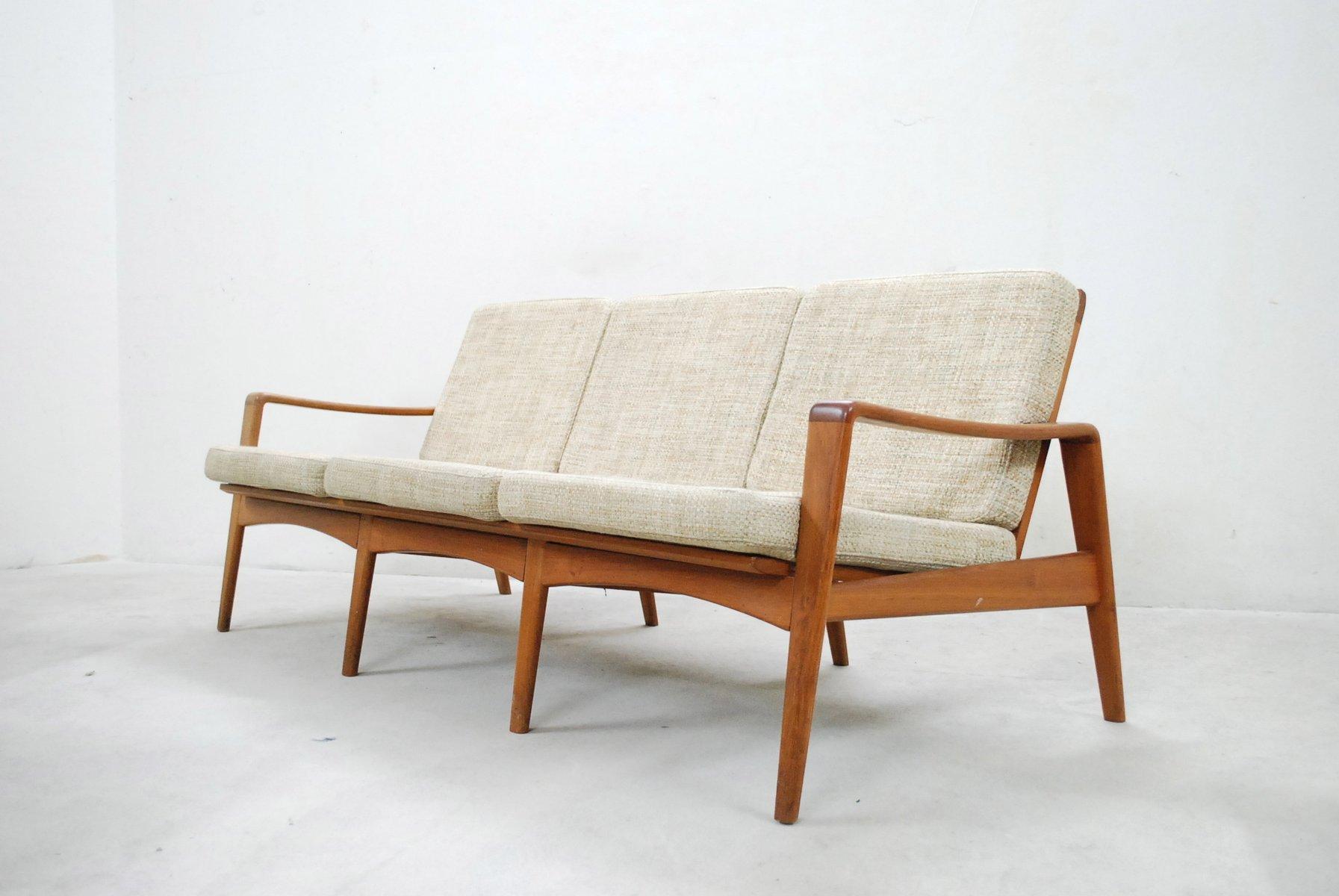 d nisches vintage 35 teak sofa von arne wahl iversen f r komfort bei pamono kaufen. Black Bedroom Furniture Sets. Home Design Ideas