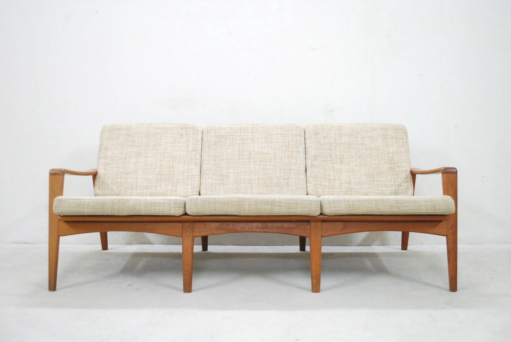 Canapé Vintage En Teck Par Arne Wahl Pour Komfort Danemark En - Canapé danois