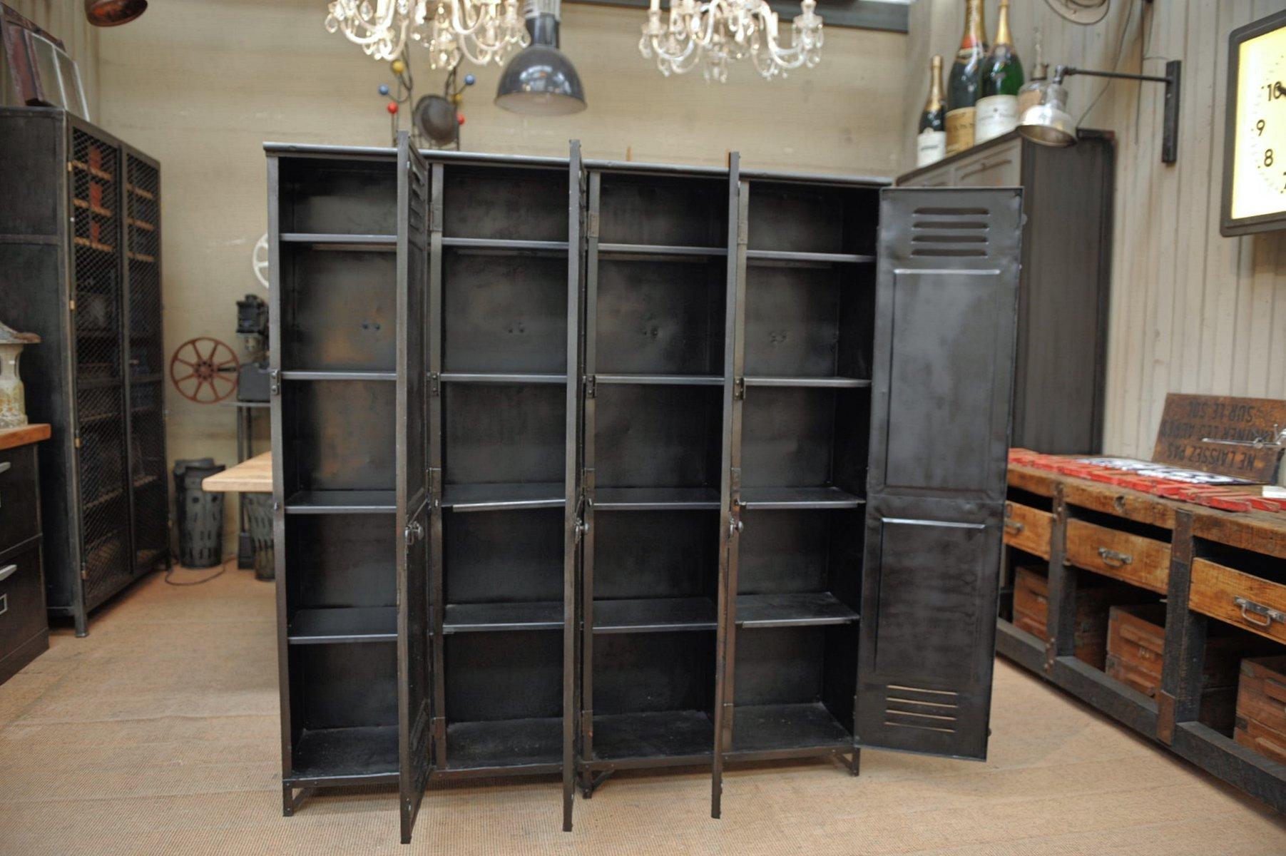 vintage metall spind reihe 1930er bei pamono kaufen. Black Bedroom Furniture Sets. Home Design Ideas