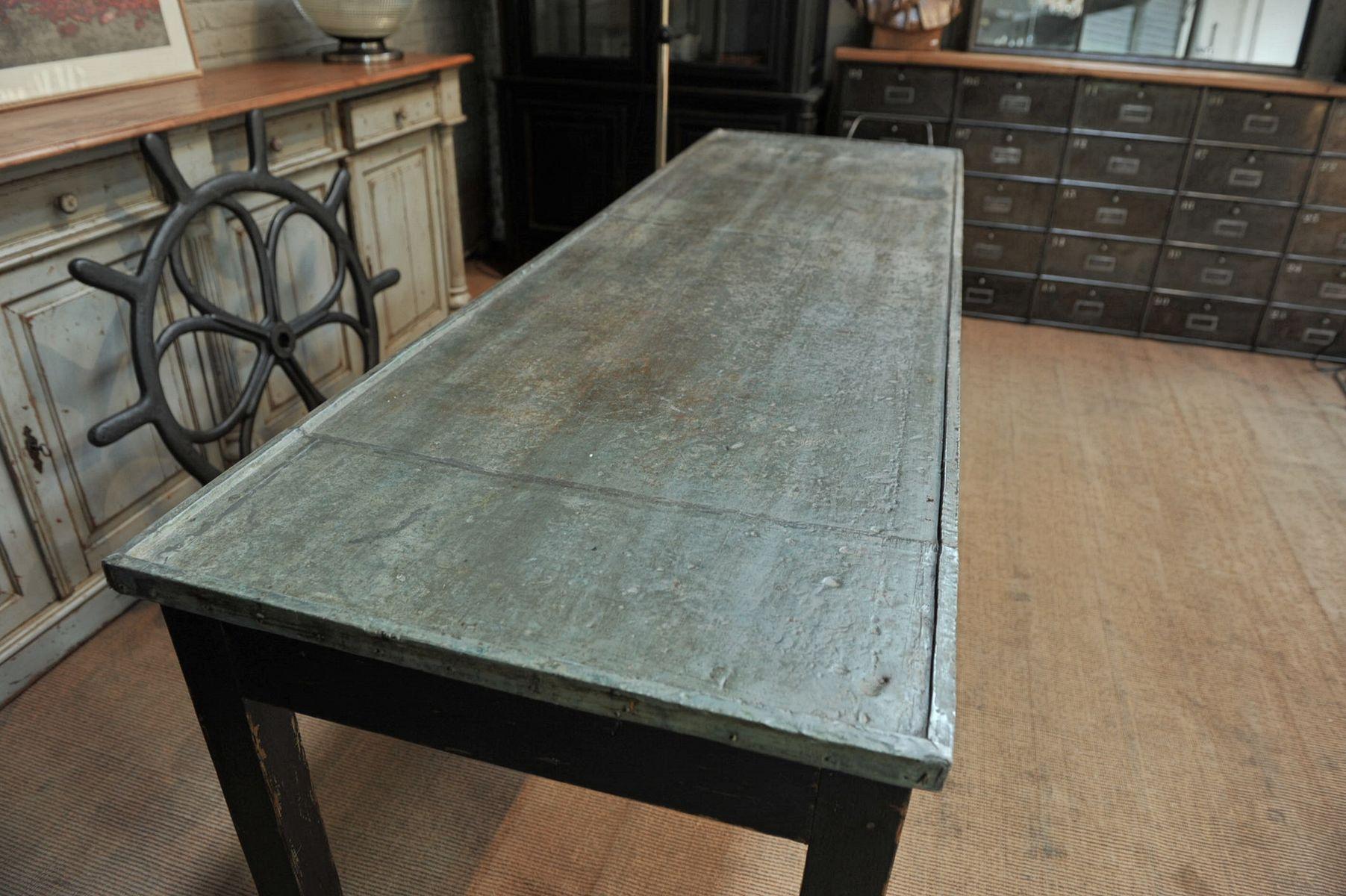Table Avec Plateau En Zinc. Fabulous Table Zinc Et Rsine Table Zinc ...