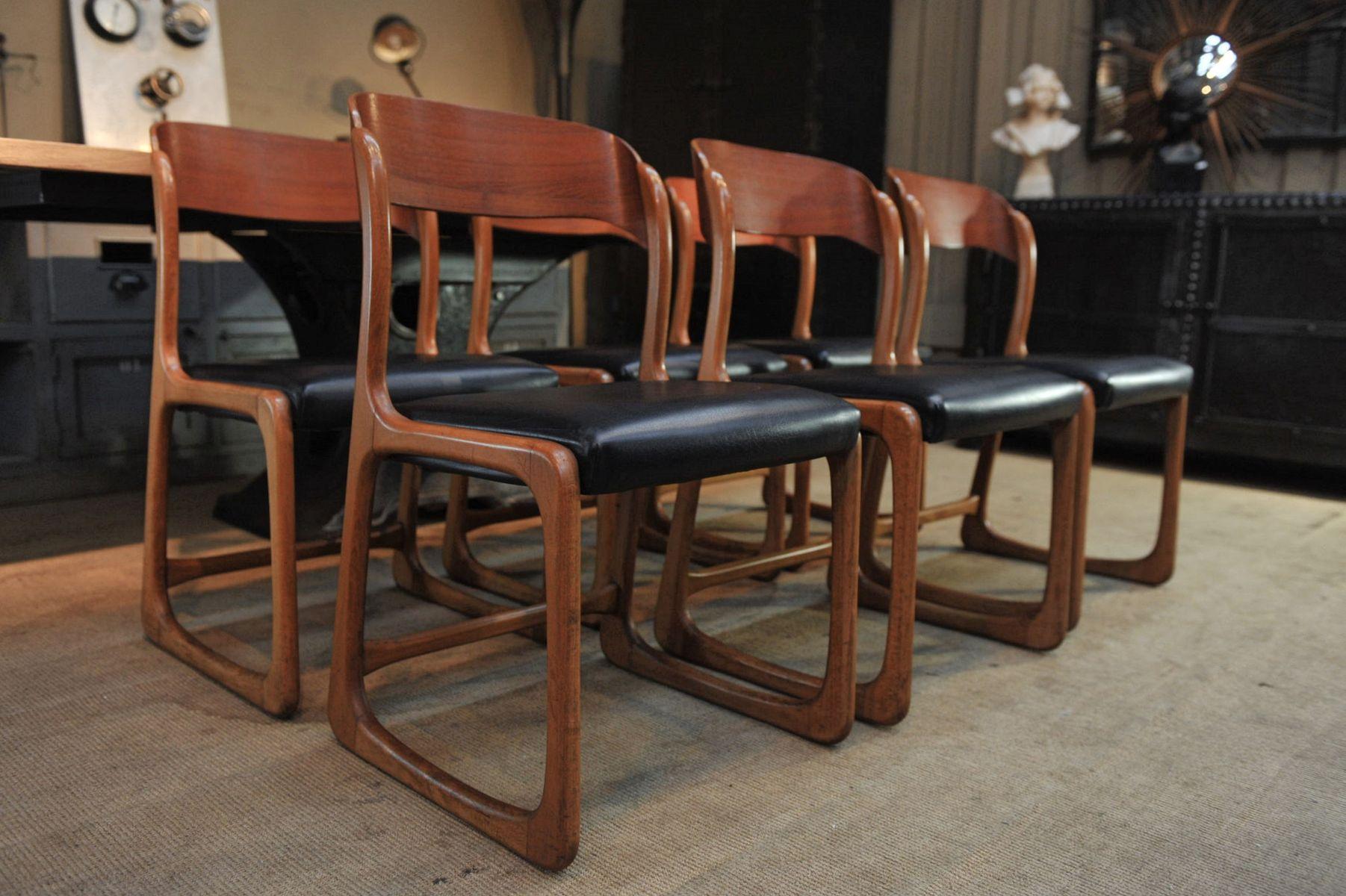 st hle von baumann 1950er 6er set bei pamono kaufen. Black Bedroom Furniture Sets. Home Design Ideas