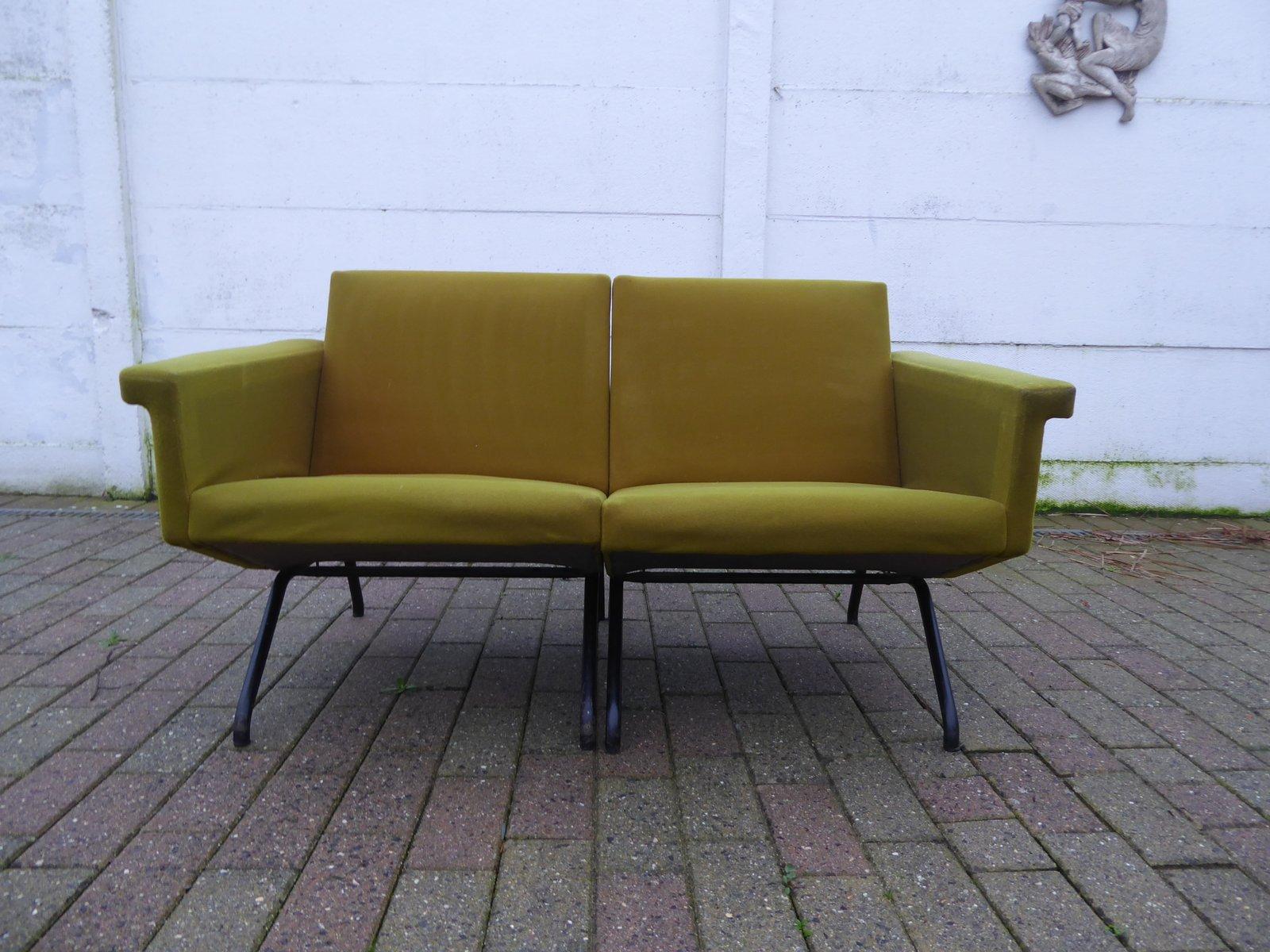 modulares zwei sitzer sofa von pierre guariche f r airborne 1960er bei pamono kaufen. Black Bedroom Furniture Sets. Home Design Ideas