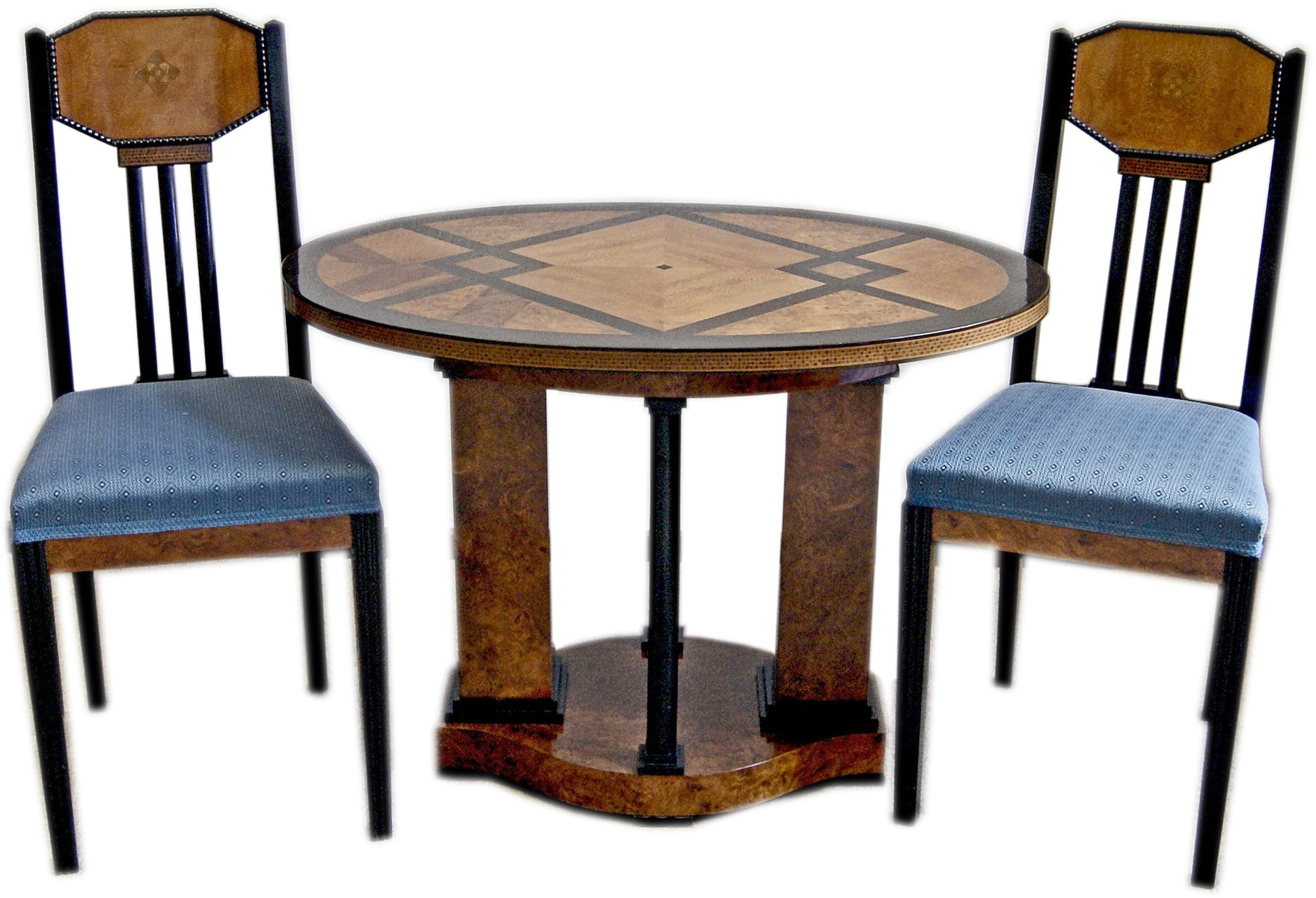 Antique German Table & Chairs by Joseph Maria Olbrich for sale at