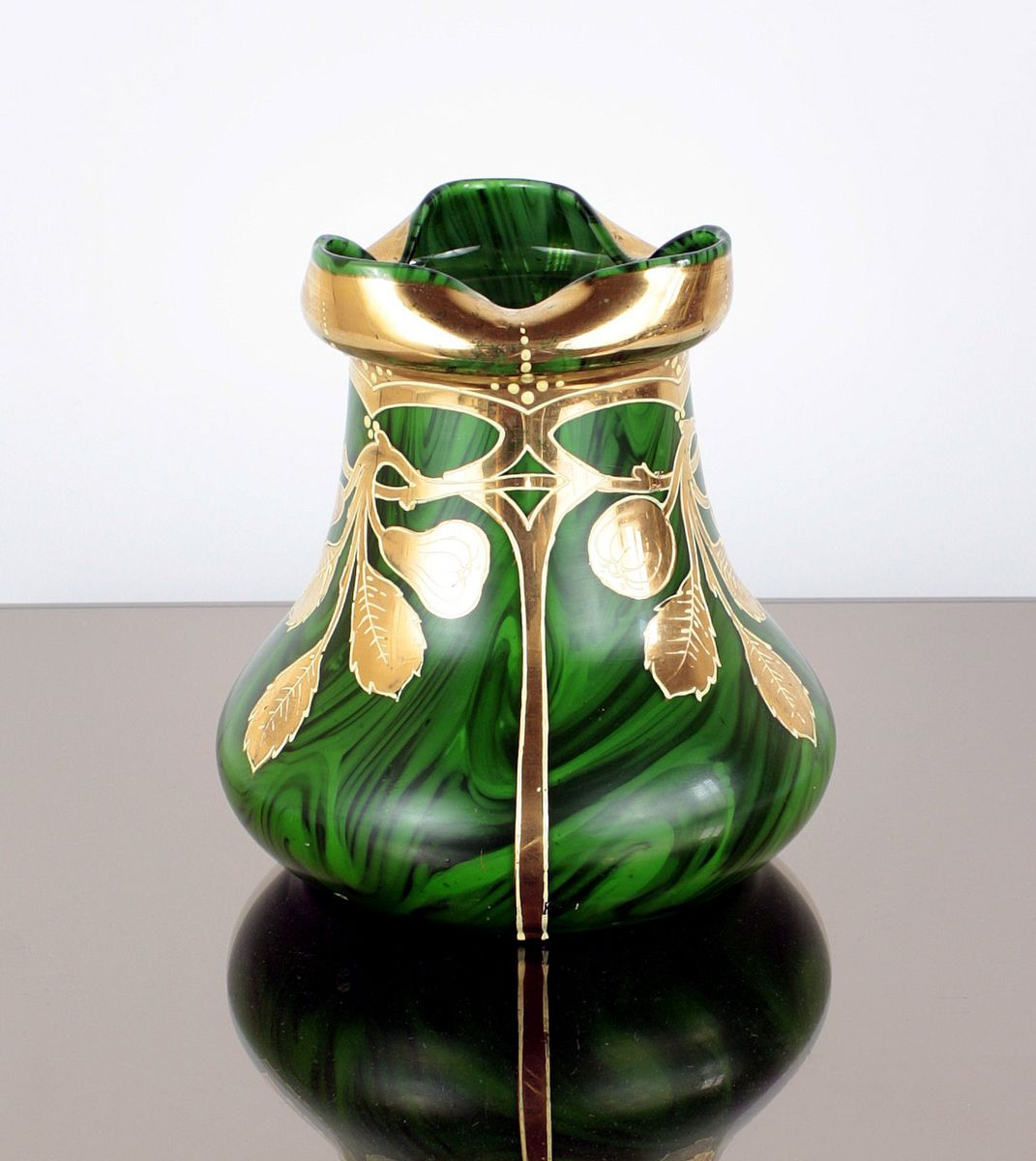 Art nouveau glass vase with gilding from harrach 1900s for sale art nouveau glass vase with gilding from harrach 1900s 3 97100 price per piece reviewsmspy