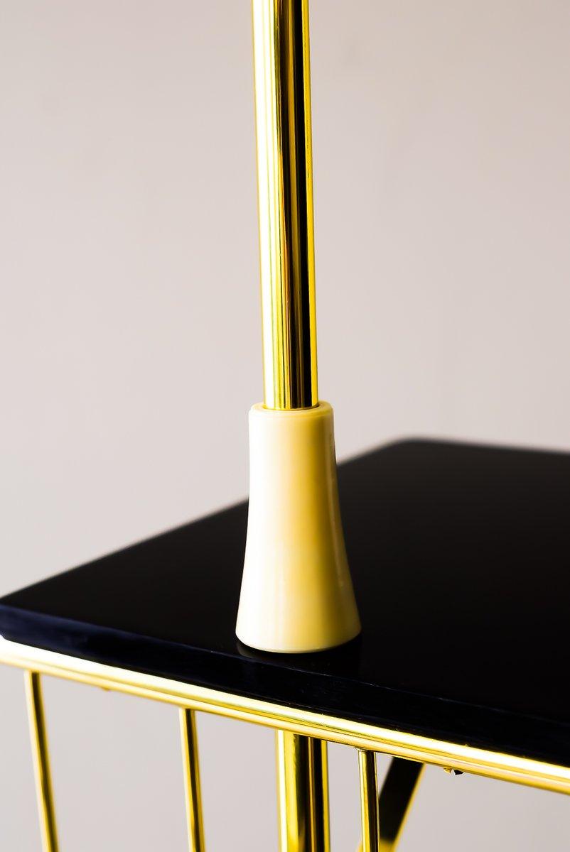 stehlampe mit ablage und zeitungsst nder 1950er bei pamono kaufen. Black Bedroom Furniture Sets. Home Design Ideas
