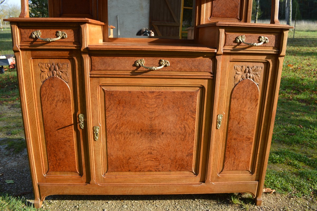 buffet art nouveau en 2 partie 1910s en vente sur pamono. Black Bedroom Furniture Sets. Home Design Ideas